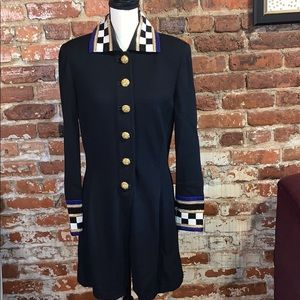 St. John  Button Down Jacket Dress US10 VTG